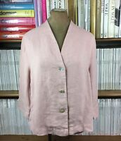OSKA 100% linen cardigan jacket top lagenlook oversize sz 1 UK 8-10 Us 4-6