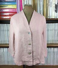 OSKA 100% linen cardigan jacket top lagenlook oversize sz 1 UK 8-10 Us 4-6