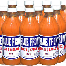 Blue Front BBQ Barbecue Sauce 12 PACK HOT 16oz. bottles