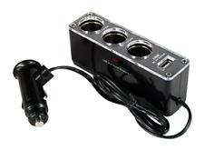 Séparateur Multiprise Voiture avec 3 prises Allume Cigare et 1 Prise USB (CAC)