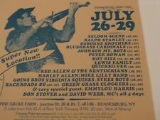 Berkshire Mtn Bluegrass Festival 1984 Telluride Rockygrass Grey Fox Winterhawk