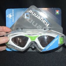 Aqua Sphere Kayenne Swim Goggles, Green/White, Polarized lens