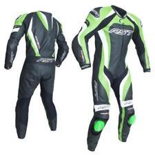 Combinaisons de motocyclette verts en cuir