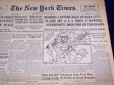 1945 MAY 29 NEW YORK TIMES - MARINES CAPTURE HALF OF NAHA CITY - NT 667