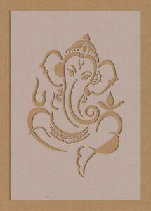 Ganesh Stencil Indian Gods Spiritual Meditation Ganesha