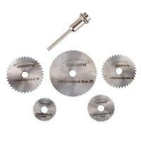6pcs Mini Circular Saw Blade Set HSS Cutting Disc Rotary Drill Tool Accessori CL