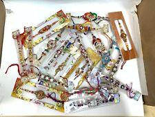PACK OF 5 - Assorted Rakhi Bracelets Raksha Bandhan India Festival Brother Sis