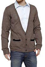Unifarbene Herren-Strickjacken aus Mischwolle