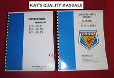 Yaesu FT-101E Manuals Service & Instruction w/Protective Covers ~ On 32Lb PAPER!