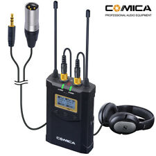 Comica Wireless Camera Lavalier Microphone 1-Trigger-2 Real-time fr Camera Canon