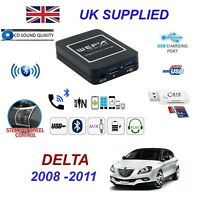 For Lancia Delta Bluetooth Telephone Streaming AUX Input 2 x USB SD Card Reader