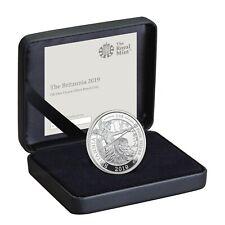 2019 Great Britain Britannia £2 Two Pound Silver Proof 1oz Coin Box Coa