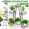 6Tier Steel Plant Stand Flower Pot Display Holder Shelf Home Garden Balcony Rack