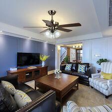 52'' Ceiling Fan Glass Light Kit Flush Mount Downrod Indoor Outdoor Patio