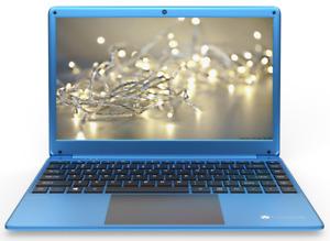 "NEW 14.1"" Gateway Intel Dual Core 64GB eMMC 4GB RAM WIN10 Home Blue Ultra Slim"