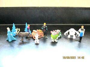 Disney Frozen 12 Figures Cake Toppers Olaf Elsa Anna Sven Hans Kristoff Sleigh +