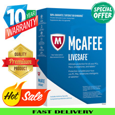 McAfee Livesafe 2020 🔥 1 Devices 10 Years Antivirus✅ înstant Delivεry🔥