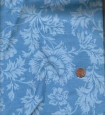 "Titley & Marr ""Suffolk""  floral novelty Light and medium blue 1 yard, 20 inches."