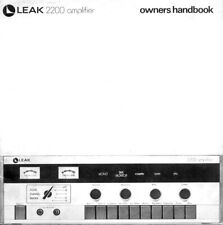 Manuale d'uso amplificatore Leak 2200 (inglese, francese e tedesco)