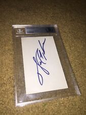 WALTER PAYTON CHICAGO BEARS SIGNED AUTOGRAPHED SLABBED BECKETT BAS INDEX CARD