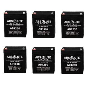 6PK NEW AB1250 12V 5Ah UPS Backup Battery Replaces Panasonic LC-R125P1, LCR125P1