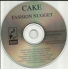 CAKE Fashion Nugget ULTRA RARE ADVNCE DJ PROMO CD 1996 USA MINT Capricorn Rec