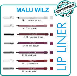 Malu Wilz Lip Liner  -  in 7 verschiedenen Farben 1,2 gr  OVP! plus GRATISPROBE