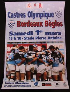 Affiche RUGBY - TOP 16 - saison 2002-2003 - CASTRES OLYMPIQUE / BORDEAUX BEGLES