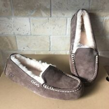UGG Ansley Chocolate Brown Suede Moccasins Slippers Shoes Size US 10 Womens