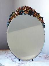Unbranded Art Deco Style Oval Decorative Mirrors