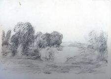 Vernon wethered (1865 -- 1952) Impressionista Paesaggio disegno. moderno, britannici.