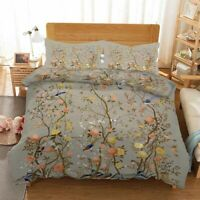 Branch Brown Bird 3D Printing Duvet Quilt Doona Covers Pillow Case Bedding Sets