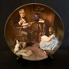 """Norman Rockwell Collector Plate """"The Storyteller"""" #4521M, Knowles China"""