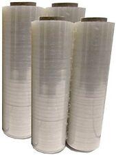 """4 Hand Stretch Wrap Plastic Shrink Rolls Of 18"""" X 1500 X 80 Ga Clear PVC Body"""