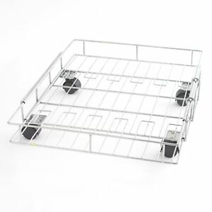 Expandable Rolling Metal Storage Basket - Home and Kitchen Storage Solution