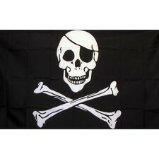 Pirate Skull and Crossbones Flag Banner Sign 3' x 5' Foot Polyester Grommets