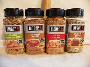 Weber Seasoning - for Burger/Steak/Chicken/Pork/Fish/Vegetables/ 7.5+ oz. sizes