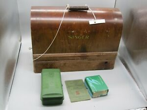 1900s Singer Sewing Machin in Wood Case Works, AD 342036 #99