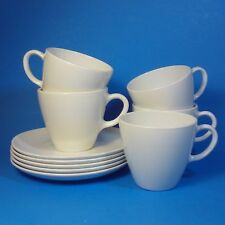 "Corning Centura White Coupe 3"" Cup & Saucer Sets 5"