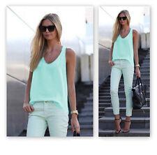 Fashion Women Summer Vest Top Sleeveless Shirt Blouse Casual Tank Tops T-Shirt S