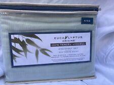 New Mint Stripe Eucalyptus Sheet Set King Size 500 Thread Count