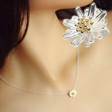 New Coming Wholesale Small Metal Daisy Fresh Sparkling Necklace Pendant