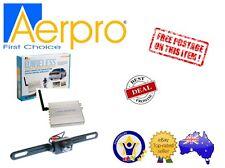 AERPRO ARV2REC UNIVERSAL WIRELESS REVERSE REAR CAMERA NUMBER PLATE MOUNT - NEW