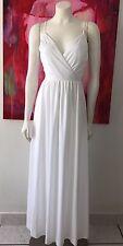 Vintage 1970s Dress White Maxi Goddess Retro 70s Glam Bombshell Studio 54 Disco