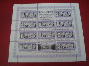 ST. VINCENT - 1975  USA BI-CENTENARY 2 MINISHEET UNMOUNTED MINT MINIATURE SHEET