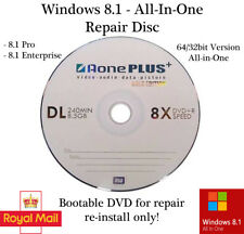 Windows 8.1 All In One 32/64 bit Recovery Repair Restore Boot Disc Reinstall DVD
