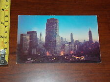 Postcard Old Midtown Manhattan Rca Building Empire State New York