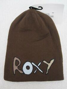 New Roxy Womens Girls Slouch Beanie Oversize Brown Hat Ski Snowboard Winter