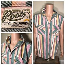 Roots sporting goods pullover hoodie sleeveless boxing striped guess style RARE