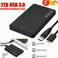 2.5'' SATA USB 3.0 HDD Hard Drive External Enclosure SSD Disk Box Case Caddy UK!
